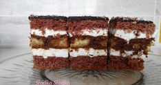 Bardzo smaczne i efektowne ciacho z %,tylko dla dorosłych.        Składniki:   Blaszka 25x36 cm     Biszkopt Ciemny:     6 jaj   1 szkl.m... Tiramisu, Ethnic Recipes, Food, Baking, Tiramisu Cake, Meals