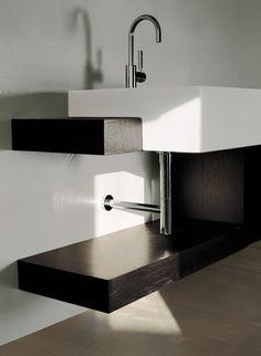 Built-in washbasin / rectangular / ceramic / contemporary ACQUAGRANDE: 5053 by Giulio Cappellini & Roberto Palomba FLAMINIA