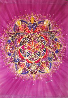 Mandala art meditation art spiritual art by HeavenOnEarthSilks