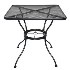 """30"""" X 30"""" Garden Treasures Davenport Wrought Iron table 60 bucks. For along benches, can be combined for larger groups."""