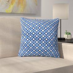 23 x 23 Square Floor Pillow Kess InHouse Marianna Tankelevich Secret Keys Blue Aqua Navy