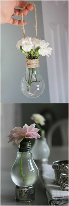Interesting designs made of light bulb Check more at machesselbsb .- Interessante Designs aus Glühbirne Check more at machesselbstnew.m… Interesting designs from light bulb Check more at machesselbstnew. Creation Deco, Deco Floral, Diy Hanging, Hanging Decorations, Hanging Flowers, Diy Room Decor, Home Decor, Diy Art, Diy And Crafts