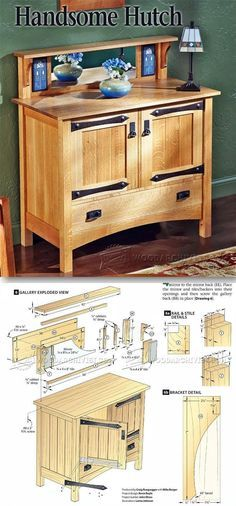 Mission Hutch Plans - Furniture Plans and Projects | http://WoodArchivist.com