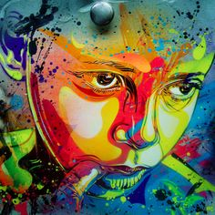 No words needed.just beautiful colours, shapes and faces to lose yourself in! All courtesy of French stencil artist Enjoy! Graffiti Murals, Street Art Graffiti, Graffiti Artists, Wall Murals, Pop Art, Art Public, Art Tumblr, Best Street Art, Art Et Illustration