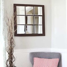 Make your own Pottery Barn look alike mirror at home! (via I Heart Nap Time)