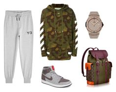 """""""Untitled #451"""" by aintdatjulian on Polyvore featuring Off-White, adidas, NIKE, Hublot, men's fashion and menswear"""