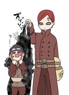 naruto gaara et son fils Itachi Uchiha, Naruto Comic, Naruto Shippuden Sasuke, Anime Naruto, Comic Anime, Naruto Sasuke Sakura, Naruto Cute, Hinata, Funny Naruto Memes