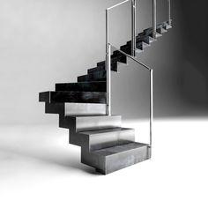 escalier métal sur mesure escalier métal sur mesure #escalier #escaliermetal #escaliersurmesure #maison # renovation Stairs, Construction, Home Decor, Spiral Staircase, Patio, Home, Building, Stairway, Decoration Home