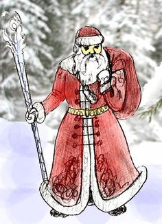 how to draw father christmas