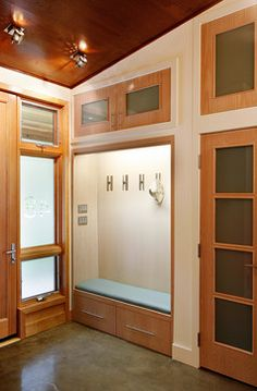 Clean And Simple Storage Area, Front Entry, Home Design, Interior Design,  Foyer