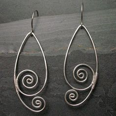 Simple spiral earrings - love these!