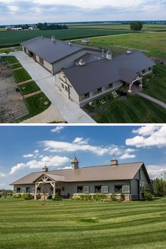 Beautiful barn houses. Nowadays everything is possible. Durable barn with living space is not a rare thing too. We have a lot of great examples of metal barn houses. #barnhouse #barnhome #barn