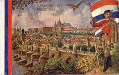 1912 Czech Sokol Postcard Prague Prague Czech Republic, Sewing Art, Fantasy Women, My Heritage, Its A Wonderful Life, Vincent Van Gogh, Vintage Postcards, Wall Art Prints, Art Decor