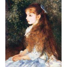 ルノワール:絵画 「イレーヌ・カーン・ダンヴェール嬢の肖像」 額付 runowal006_f0