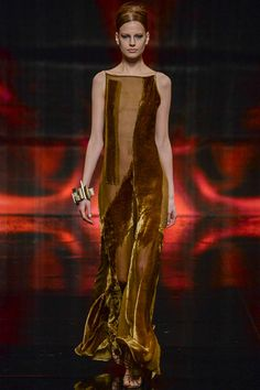 This model is naked but this burn out vintage dark gold dress is mine! Wear it if you dare...