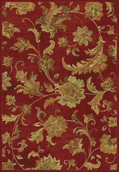 Versailles 8553 Aegean Scroll Red Rug