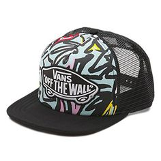 d87caf4c3ef Vans Beach Girl Trucker Hat The Beach Girl Trucker Hat is a polyester mesh- back cap with an all-over print