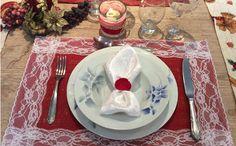Jogo americano dá um charme especial à mesa de Natal (Fotos: Katia Alfenas)