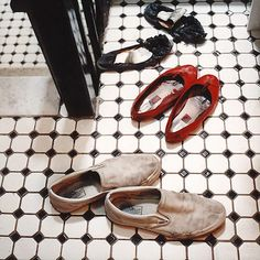 find these shoes together very sweet!