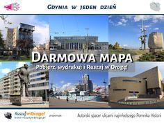 #Gdynia w jeden dzień - Spacer ulicami najmłodszego Pomnika Historii darmowa #mapa od Ruszaj w Drogę!
