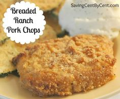 These Breaded Ranch Pork Chops only took a few minutes to throw into the oven.: