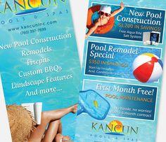 Kancun Pools & Spas - Big Rig Media - Rackcard Design - Postcard Design