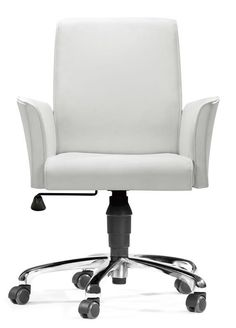 Metro Office Chair White Zuo Modern Contemporary