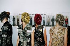 Backstage at Maison Martin Margiela's Autumn-Winter 2012 'Artisanal' Haute Couture fashion show. ©Tyrone Lebon @Jill Staniec & Confused
