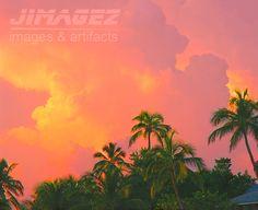 Palm Sunset  8x10 Landscape Fine Art Print by JIMAGEZ on Etsy, $25.00