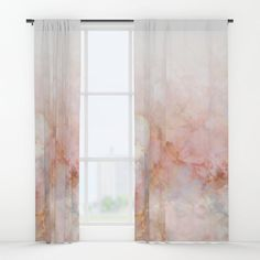 Beautiful Pink and Gold Ombre marble under snow Blackout Curtain by dominiquevari Marble Art, Gold Marble, Pink And Gold Curtains, White Marble Bathrooms, Generative Art, Winter Art, New Room, Window Curtains, Pastel Pink