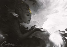 "charliebowater: "" A little something I've been working on in my spare time, much fun! Very much a sister to Fools Gold and very inspired by Yoann-Lossel. Photoshop CS6 & Wacom Intuos 5. Limited..."