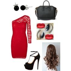 A fashion look from February 2015 featuring Vero Moda dresses, Talitha pumps and Givenchy handbags. Browse and shop related looks.