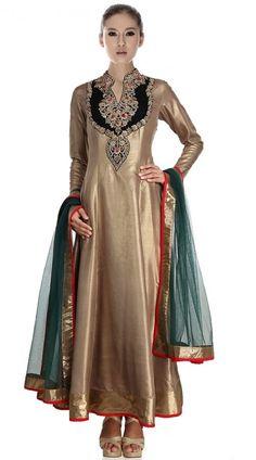 Pretty Sea Green Pure Jute Silk Palazzo Lehenga Suit | Designer