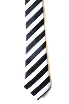 2 inch Black and White Stripe Tie by TiestheKnot on Etsy, $8.99 #weddingstuff #grooms