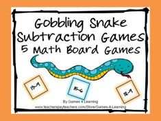 Gobbling Snake Subtraction Math Board Games from Games 4 Learning $
