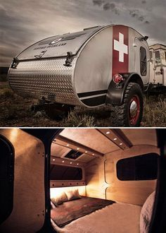 Vintage Overland Teardrop Trailers -- Colorado-based Vintage Overland specializes in hand-built teardrop camper trailers. Built for rugged, off-road missions, they offer sleeping for two with a classic hatchback galley in the rear. You won't be roughing it: Hardwood interiors, LED lighting, & memory foam mattresses. 3 models are available.