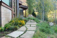 A Hyland Landscape, LLC, Stone Paths Garden Landscaping, Stepping Stones, Fence, Stone Pathways, Lawn, Improve Yourself, Planting, Gardening, Sidewalk