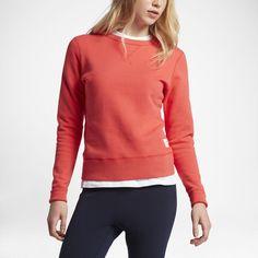 Converse Essentials Sportswear Crew Women's Sweatshirt Size Medium (Red)