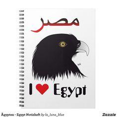 Ägypten - Egypt Notizheft Spiral Notizbuch