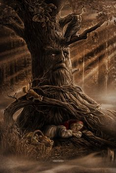 f Halfling Druid lvl Squirrel companion Treant Conifer Forest night full moon Trilogy books of Chronicles of the Chosen One the real secrets and true mysteries of Lilith Forest Creatures, Fantasy Creatures, Mythical Creatures, Thor, Vegvisir, Norse Vikings, Norse Mythology, Green Man, Tree Art