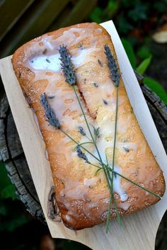 Lavender and Lemon Loaf Cake: Prolong Summer with this gorgeous, fragrant, moist cake that smells like an English garden! Read Recipe by brookepyper Just Desserts, Delicious Desserts, Dessert Recipes, Yummy Food, Lavender And Lemon, Lavender Recipes, Lavender Cake, Lavender Flowers, Lemon Loaf Cake