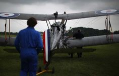 The SE5a replica is taken to position for demonstration flight at 'The Shuttlesworth Collection' at Old Warden on July 21, 2014 in Biggleswade, England. Dan Kitwood, Getty Images