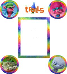 Trolls 2 Inch Cupcake Toppers Sticker  Bonus Bag Sticker  ** Instant Download by ChamPartyPerfect on Etsy https://www.etsy.com/listing/483323346/trolls-2-inch-cupcake-toppers-sticker