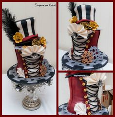Steampunk cake. I want to make this one for my B-day. Sooo much fun!
