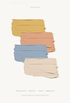Simple color palette for painting and design Paint Color Schemes, Colour Pallette, Yellow Color Palettes, Nursery Color Schemes, Bedroom Color Palettes, Family Color Schemes, Vintage Color Schemes, House Color Palettes, Paint Color Palettes