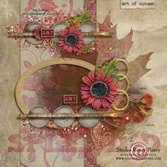 Art of Autumn mini kit #freebie from Rosey Posey #scrapbook #digiscrap #scrapbooking #digifree #scrap