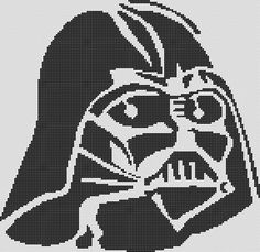 Cross Stitch Chart Pattern - Darth Vader Star Wars by kanitted