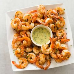 Paleo Broiled Shrimp Cocktail with Tarragon Sauce