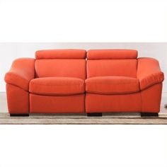 Sofa Sale Lowest price online on all ESF Style Leather Reclining Sofa in Orange