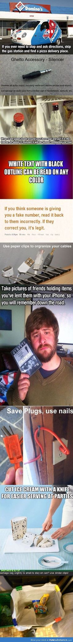 Life hacks- That photo of a friend borrowing your stuff is a good idea. I always forget! lol